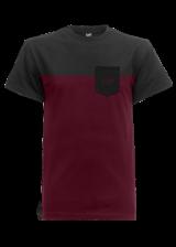 t-shirt-two-cut-pocket-black-maroon