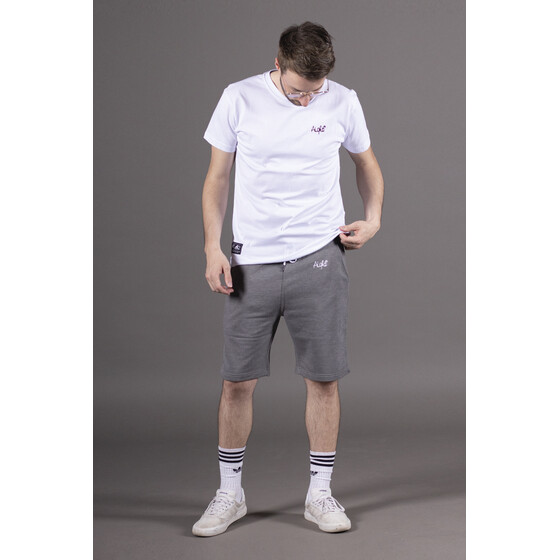 Aight* Sweatshort - OG Emb dark heather grey