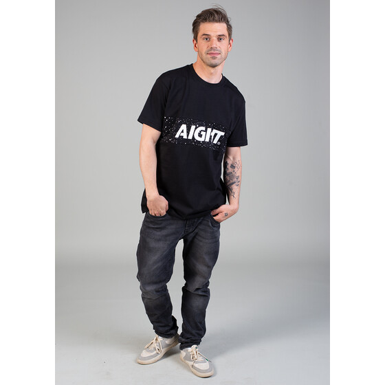 Aight* T-Shirt - 2 Tone cosmo black