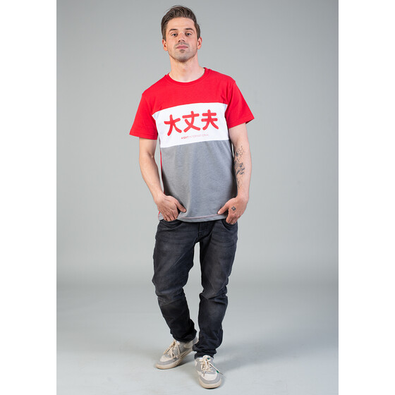 Aight* T-Shirt - Japan 3 Way red white XXL