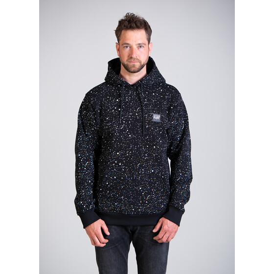 Aight* Hoodie - Space Splatter cosmo black XL